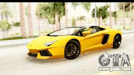 Lamborghini Aventador LP700-4 Roadster v2 for GTA San Andreas