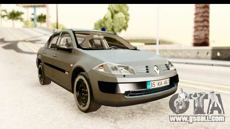 Renault Megane 2 Sedan Unmarked Police Car for GTA San Andreas
