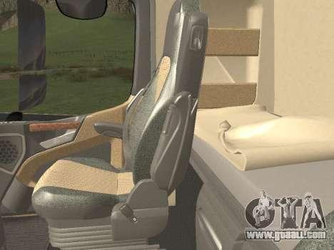 Mercedes-Benz Actros Mp4 6x2 v2.0 Steamspace v2 for GTA San Andreas interior