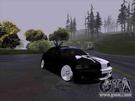 BMW E46 Good and Evil for GTA San Andreas back left view