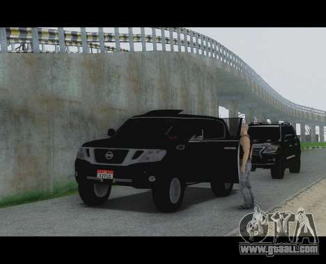 Nissan Patrol for GTA San Andreas back left view