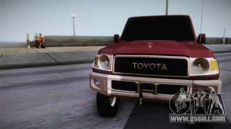 Toyota Land Cruiser 4 Puertas Original for GTA San Andreas back left view