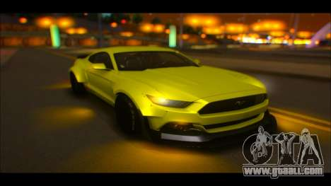 Ford Mustang 2015 Liberty Walk LP Performance for GTA San Andreas inner view