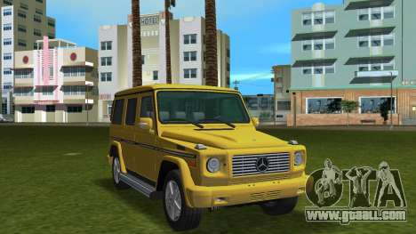 Mercedes-Benz G500 W463 2008 for GTA Vice City inner view
