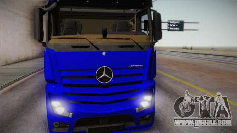 Mercedes-Benz Actros Mp4 6x4 v2.0 Gigaspace for GTA San Andreas back left view