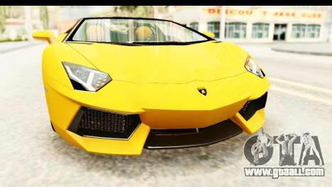 Lamborghini Aventador LP700-4 Roadster v2 for GTA San Andreas side view