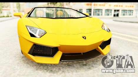 Lamborghini Aventador LP700-4 Roadster v2 for GTA San Andreas side view