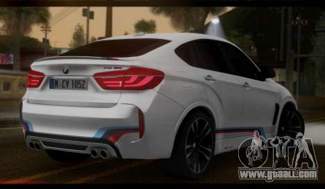 BMW X6M F86 M Performance for GTA San Andreas left view