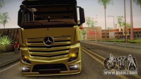 Mercedes-Benz Actros Mp4 v2.0 Tandem Big for GTA San Andreas inner view