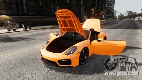 Porsche Boxster GTS 2014 for GTA 4 inner view