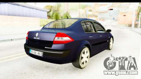 Renault Megane 2 Sedan 2003 v2 for GTA San Andreas back left view