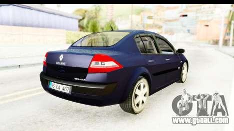 Renault Megane 2 Sedan 2003 v2 for GTA San Andreas back left view