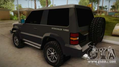Mitsubishi Pajero 3-Door Off-Road for GTA San Andreas left view