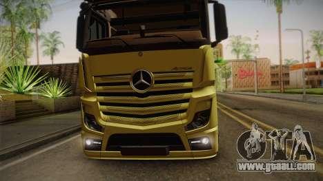 Mercedes-Benz Actros Mp4 v2.0 Tandem Big for GTA San Andreas back view
