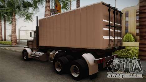 GTA 4 Flatbed for GTA San Andreas left view