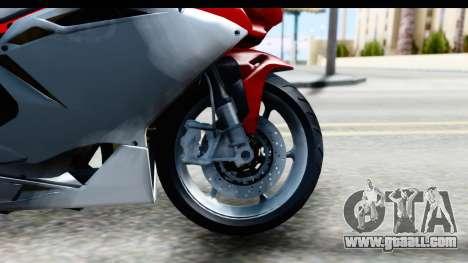 MV Agusta F4 for GTA San Andreas back view