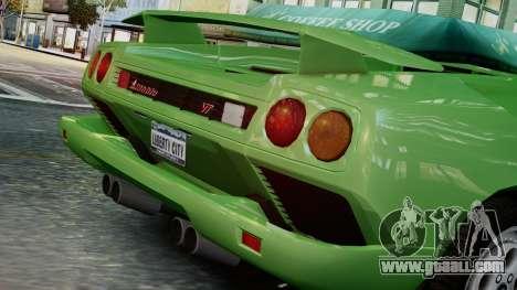 Lamborghini Diablo VT 1990 for GTA 4 back view