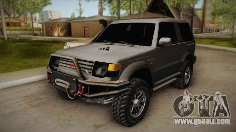 Mitsubishi Pajero 3-Door Off-Road for GTA San Andreas