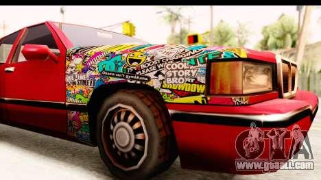 Elegant Sticker Bomb for GTA San Andreas back view