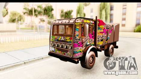 Sticker Bomb Dune for GTA San Andreas back left view