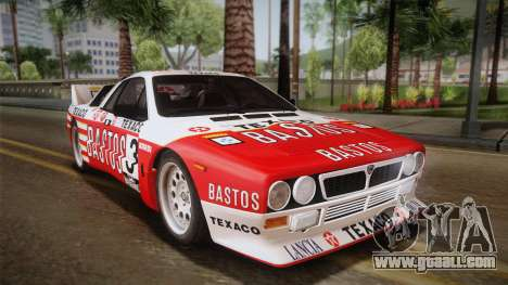 Lancia Rally 037 Stradale (SE037) 1982 IVF Dirt2 for GTA San Andreas left view