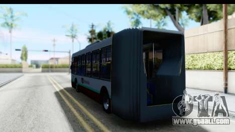 Metrobus de la Ciudad de Mexico for GTA San Andreas back left view
