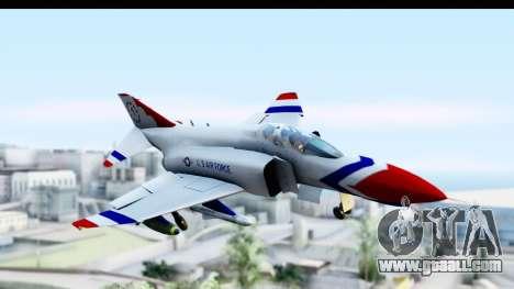 F-4 Phantom II Thunderbirds for GTA San Andreas back left view