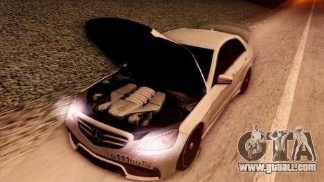 Mercedes-Benz Е63 for GTA San Andreas upper view