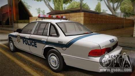 Ford Crown Victoria 1997 El Quebrados Police for GTA San Andreas left view