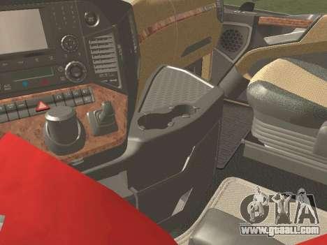 Mercedes-Benz Actros Mp4 6x2 v2.0 Steamspace v2 for GTA San Andreas upper view