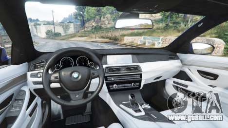 GTA 5 BMW M5 (F10) 2012 [replace] front right side view