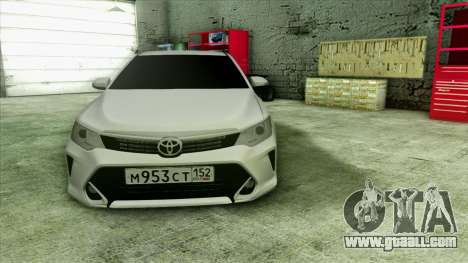 Toyota Camry 2016 v.2 for GTA San Andreas inner view