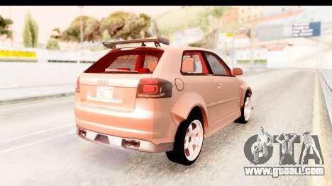 Audi S3 Slaam for GTA San Andreas left view