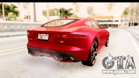 Jaguar F-Type R Coupe 2015 for GTA San Andreas left view