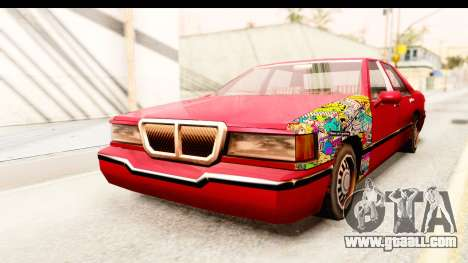 Elegant Sticker Bomb for GTA San Andreas right view