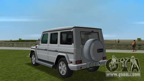 Mercedes-Benz G500 W463 2008 for GTA Vice City back left view