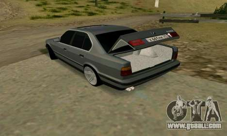 BMW 535i e34 for GTA San Andreas inner view