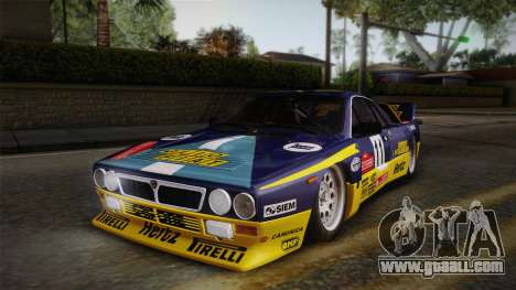 Lancia Rally 037 Stradale (SE037) 1982 IVF Dirt1 for GTA San Andreas interior
