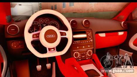 Audi S3 Slaam for GTA San Andreas inner view