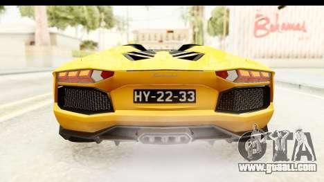 Lamborghini Aventador LP700-4 Roadster v2 for GTA San Andreas interior