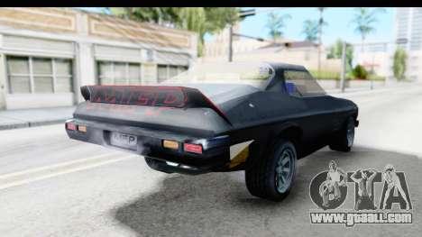 Holden Monaro 1972 Nightrider for GTA San Andreas back left view