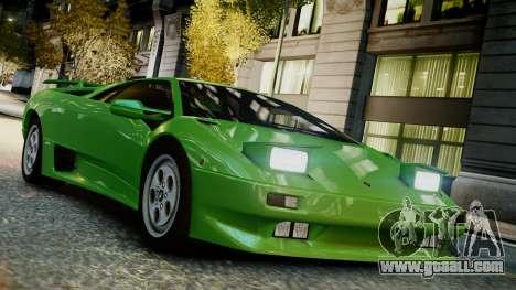 Lamborghini Diablo VT 1990 for GTA 4 right view