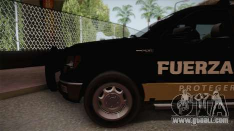 Ford F-150 de la Fuerza Civil de Nuevo Leon for GTA San Andreas back left view