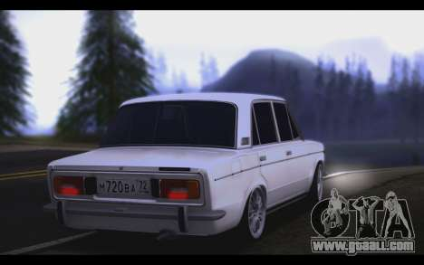 VAZ 2106 Steele for GTA San Andreas back left view