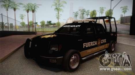 Ford F-150 de la Fuerza Civil de Nuevo Leon for GTA San Andreas