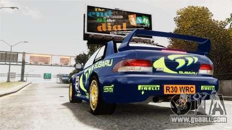 Subaru Rally WRC Impreza 98 v8 for GTA 4 left view
