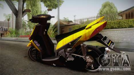 Honda Vario Yellow Shines for GTA San Andreas left view