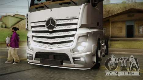 Mercedes-Benz Actros Mp4 6x2 v2.0 Bigspace v2 for GTA San Andreas back view