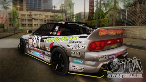 D1GP Nissan 180SX BWest Origin Labo for GTA San Andreas left view