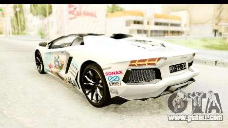 Lamborghini Aventador LP700-4 Roadster v2 for GTA San Andreas wheels
